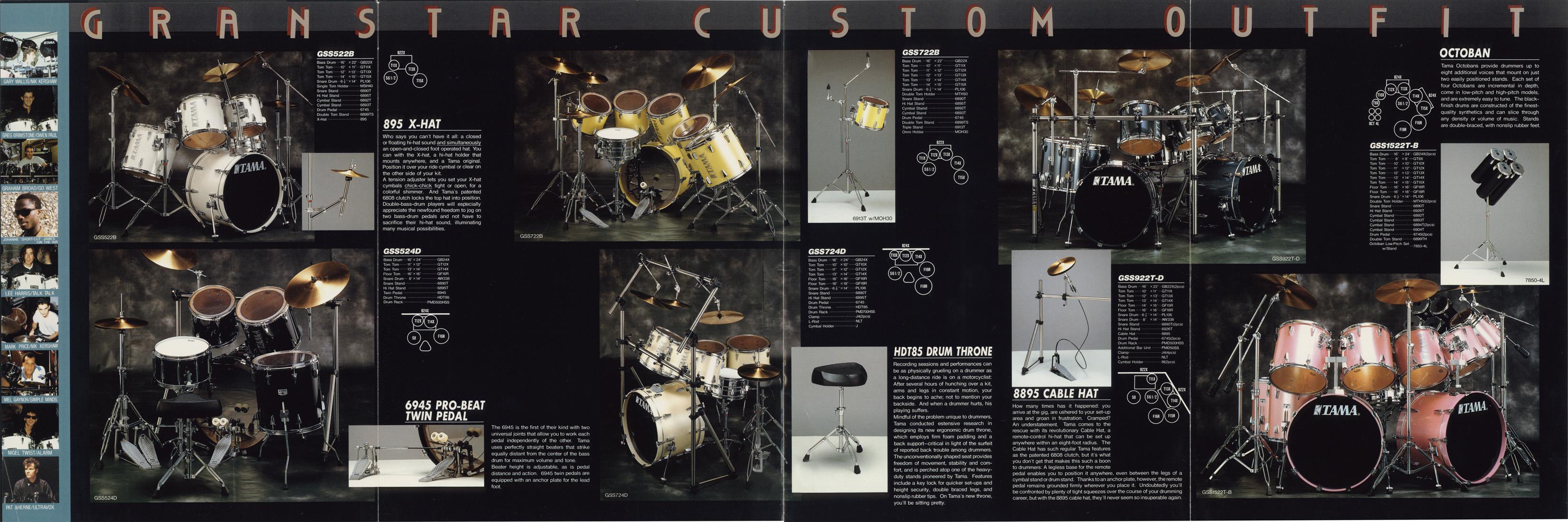 Tama Granstar Catalog 1986 Page 3
