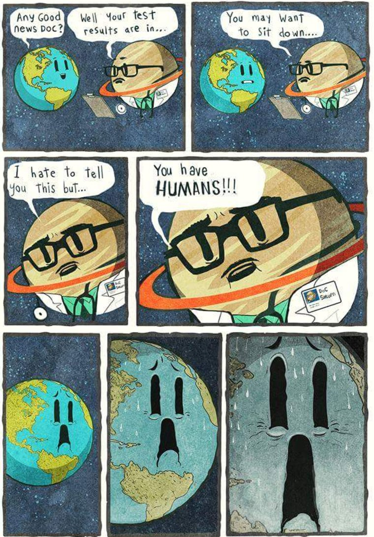 A planet has humans.