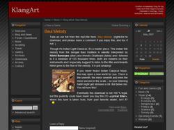 WordPress theme KlangArt