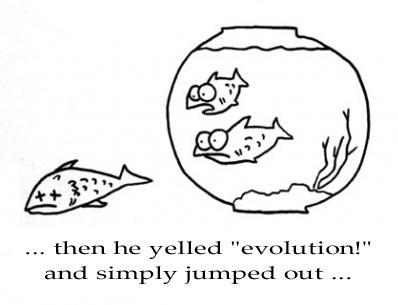 Evolution fish joke
