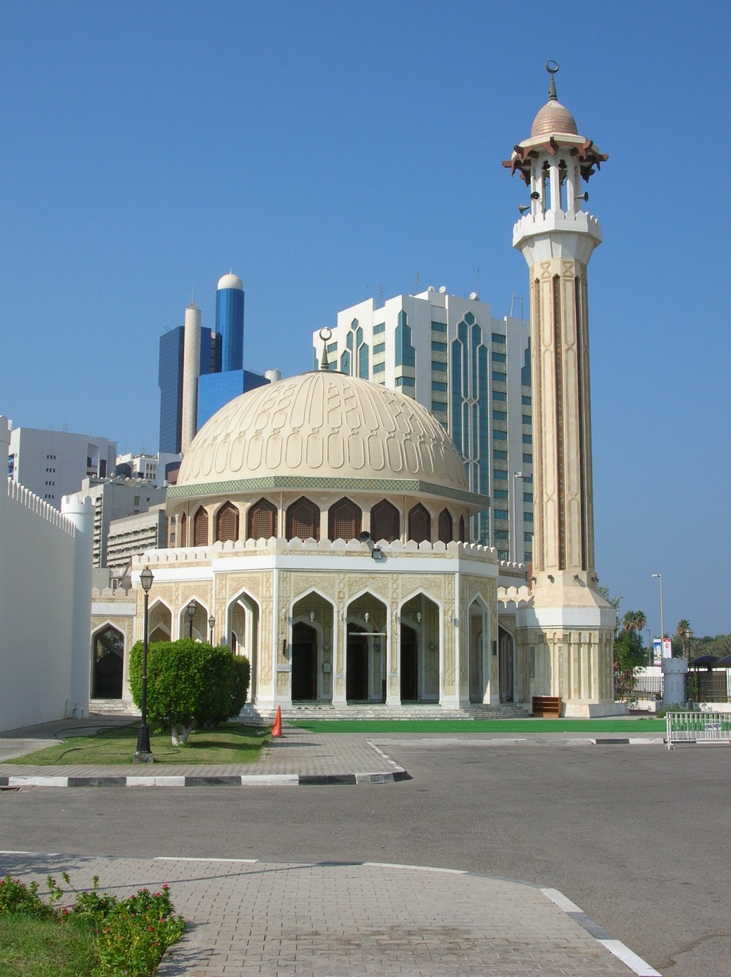 Mosque at the Fort Al Hosn in Abu Dhabi