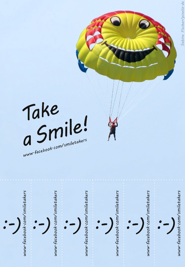 Take a smile - flyer image