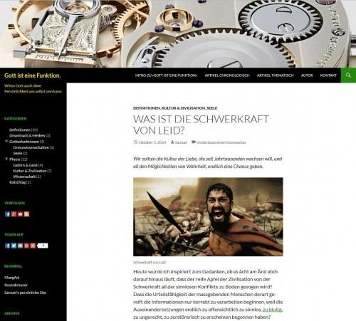 Site Screenshot: Gott ist eine Funktion.