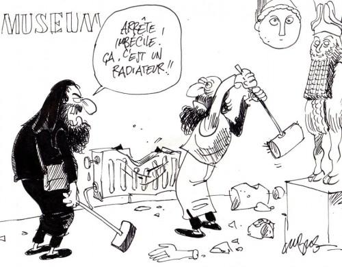 Der Islamische Staat zerstört Kulturgüter.