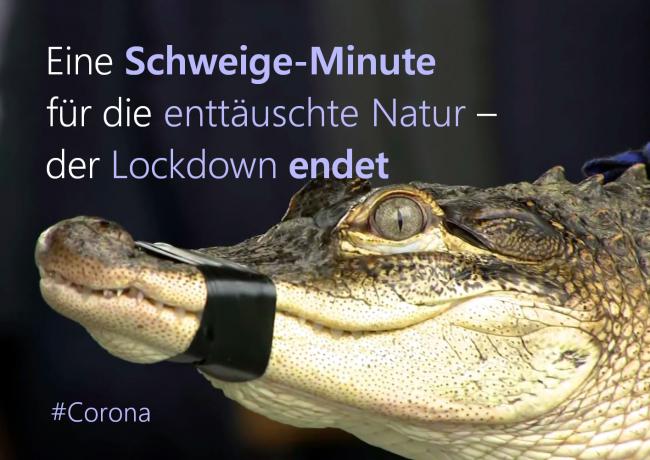 Eine Schweige-Minute für die enttäuschte Natur – der Lockdown endet (#Corona)